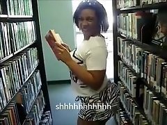 Lmfao ebony milf booty twerking at the library ameman