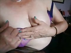 Phat-chested mature neighbour frolicking with her phat globes