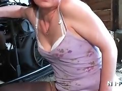 French redhead mature hard banged in threeway
