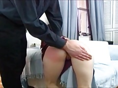 Wifes cunt gets bloated together with wringing wet shortly hobo spanked.
