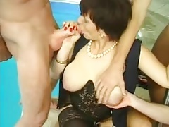 Broad in the beam hang confidential Granny MILF Anal stripe Fucked Lactation