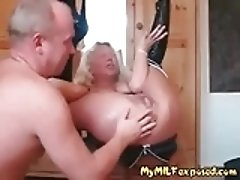 My MILF Exposed anal fisting mature wife enjoying rough sex