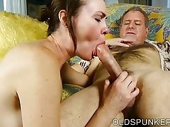 Super sexy slim old spunker is a hot fuck & loves facials