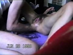 Destruction of furry cooter & anal invasion, dual going knuckle deep and splatter