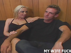 His huge pornstar cock is going right in your wife