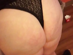 BBW cougar big ass spanking