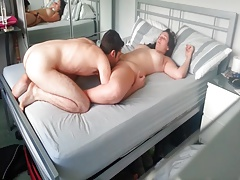 Licking wifes cunt in bedroom