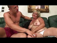 Chubby Granny Screams On Huge Cock