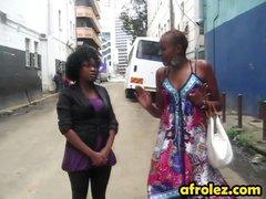 African sweet mature babe loves eagle lesbian fucking style with ebony mama