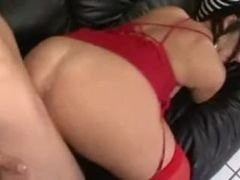 Torrid huge-chested dark haired mommy smashes sonny