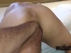 Dual ass fucking going knuckle deep Latina inexperienced Maria