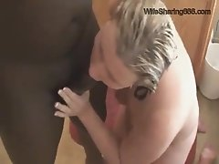 Amateur Chubby HotWife Gets Used By BBC In The Bathroom for WifeSharing666com