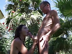 beauty babe fucked by old skinny