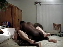Latina screws youthfull big black cock in front of her spouse