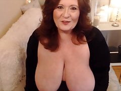 Sensual mature plumper with white pearly cunt and sloppy desire