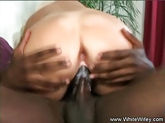 Interracial Anal Creampie