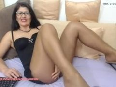 Mature on cam In shining sunburn tights and sundress
