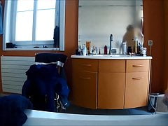 Covert webcam of my wifey in the douche