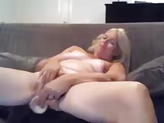Masturbation blonde granny