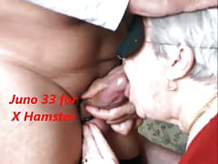 Granny swallows rub-down the cum plus she likes on Easy Street