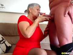 Brit aged female Savana nailing and throating