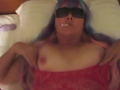 Smoking Virginia Slims 120's Menthols In Bed (Short Clip)
