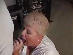 Bbw granny soaking blowjob