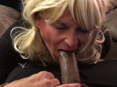 Voluptuous deep-throat job on thick big black cock