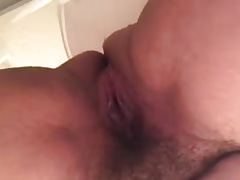 HAIRY WIFE PISSING