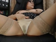 Webcam wet underwear Latin mom