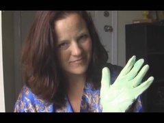 Mom latex glove handjob at Handjob Hub