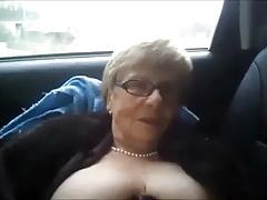 Vulgar granny motor piss