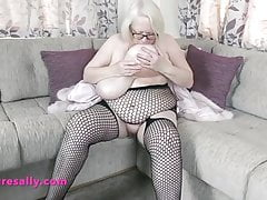 Fishnet bod tights for our grannie