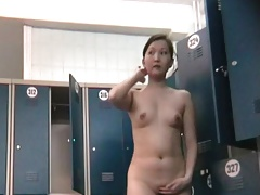 Asian Milf in the LockerRoom