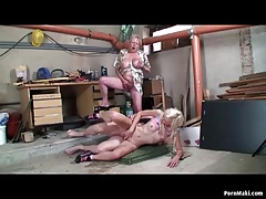 Granny watches grandpa fucks blonde babe