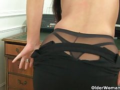UK cougar Annabella Ford will be your super-naughty assistant