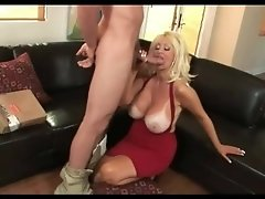 Busty Blonde Cougar Getting Fucked Hard