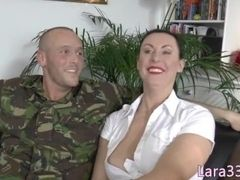 UK milf gets assfucked coupled with creampied