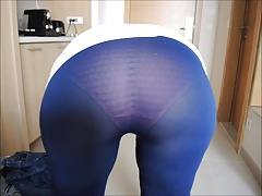 My lady's seethru tights! Her ass taste amazing