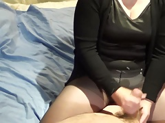 Handjob by wife, great