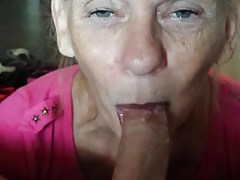 Old Mrs Mae loves to suck