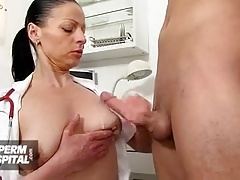 Handjob from naughty nurse feat. Czech cougar Marta