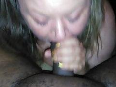 Plus-size deep throats the ebony off big ebony cock