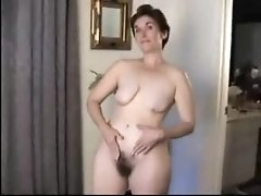Passionate hairy mature strips for you