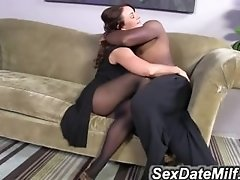 Janet Mason Tries Mandingo-s Huge Black Cock