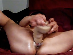 Latin Wife with 14 inch Dildo