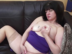Kinky mature mom and wife with thirsty old vagina