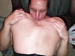 wife sits on strangers face and sucks my cock