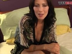 Big-titted sizzling STEP mother hand-job stepson