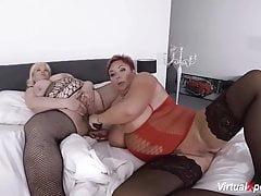 Extraordinary mature lesbo plus-size intercourse